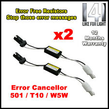 2PCS LED WARNING CANCELLER 501 T10 W5W WEDGE NO CANBUS OBC ERROR LOAD RESISTOR