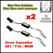 W5w 501 T10 Led coche bombillas Can-bus error resistencias Fix