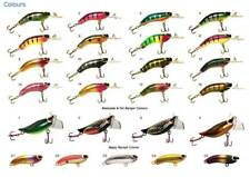 Taylor Made Timber lure mini Surface Breaker (color 6 Black body Red/gold belly)