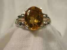 Women;s 9x7mm Citrine ring Size 5