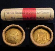 *GUTSE* FRANCO, CARTUCHO FNMT, 50 MONEDAS, 1 PESETA 1966*19-75, SIN CIRCULAR