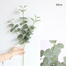Artificial Plants Fake Money Leaf Eucalyptus Green Silk Flowers Home Decor