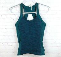 Alo Yoga Women's Size M Athletic Tank Top Blue Green Built In Bra