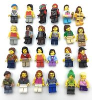 LEGO BIG LOT OF 24 FEMALE MINIFIGURES GIRLS TOWN CITY PEOPLE