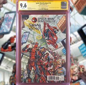 SPIDER-MAN DEADPOOL #14 COAST TO COAST VARIANT CGC 9.6 SS FABIAN NICIEZA