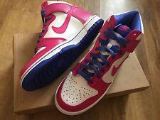 NUOVO Nike Dunk donne ragazze Hi Scarpe Da Ginnastica Bianco / Rosa Taglia Uk 5.5 Eur 38.5 £ 40