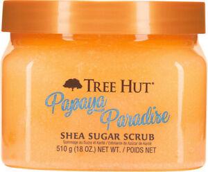 2 Tree Hut PAPAYA PARADISE Shea Sugar Scrub 18oz NEW Free Priority Shipping