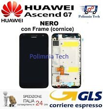 HUAWEI G7 NERO - DISPLAY LCD+TOUCH COMPLETO con FRAME (cornice)  - Sped 24h..!