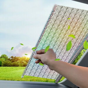 Auto Retractable Car Front Windshield Sun Shade Cover Window Visor Rear 125x50cm