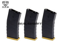 APS Froged Match Rifle FMR 300 Rds Airsoft Magazine For AEG (Gold, 3PCS) AER032G