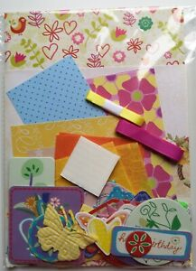 """5x7 inch - 5"""" x 7"""" - Birthday Card Making Kits - Various Designs & Colours"""