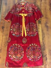 Vintage EXCLUSIVE FASHIONS by PARK-Seoul, Korea RED- Oriental Gown Dress size 14