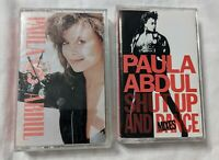 Paula Abdul Vintage Cassette Tapes Lot Of 2 80's-90's Pop Dance Music