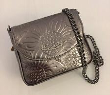 Braccialini Handbag Gray Silver