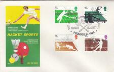 (09838) el aclaramiento GB philart FDC Raqueta Deporte Squash Asociación grada 1977