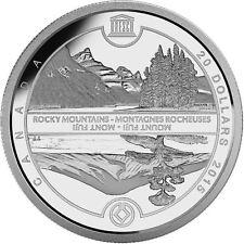 2015 $20 .9999% Fine Silver 1oz Coin - Unesco at Home & Abroad-Mount Fuji
