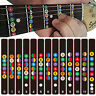72B2 Guitar Scale Sticker Fretboard Fret Label Decal Note For Trainer Beginner