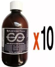 (10 X 500ml) 99.99% Pure High Voltage Colloidal Silver 10ppm (BEST FEEDBACKS)