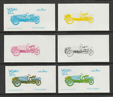 Oman 3122 - 1976 CARS - SPYKER  set of 6 PROGRESSIVE PROOFS unmounted mint