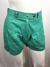 High Waisted Vintage Shorts Mint Green 2 Dome Closure Zipper ISPO International