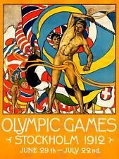 Vintage pub sport jeux olympiques stockholm 1912 new art print poster CC4791