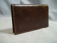 Leather And Metal Business Card Case With Magnetic Closure