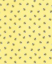Timeless Treasures -  Bees on yellow background C5376 100% cotton FQ/Metre