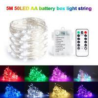 5M 50 LED Lichterkette Kugel Lichterkette Wasserdicht Party Garten Beleuchtung