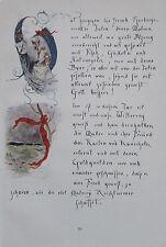Eine Seite der Chronik Initialen von EUGEN HORSTIG Originaldruck aus 1918 print
