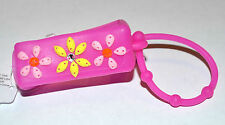 NEW BATH BODY WORKS PINK FLOWER RHINESTONE POCKET  BAC HOLDER CASE SANITIZER
