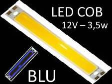 BARRA piastra LED COB 12V - 3,5w BLU lampada faretto g4 lampadina camper barche