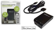 PowerLine 90342 (4.2 amps total) DUAL HI-Power USB Wall Charger w/6' Sync Cable