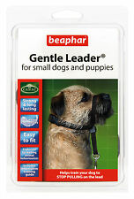 BEAPHAR GENTLE LEADER FOR SMALL DOGS AND PUPPIES S, BLACK LEAD