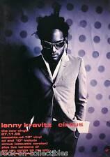 LENNY KRAVITZ 1995 CIRCUS BLACK AND WHITE PROMO POSTER