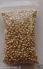 Perlen Glasperlen - ROCAILLES - METALLIC GOLD 2,6mm - 20 g