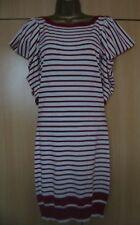 BNWT NEXT Red White Stripe Fine Knit Jumper Dress Tunic Size 6