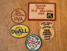 LOT OF 5 OLD PATCH PATCHES vintage wrestling bowling boy scouts doall