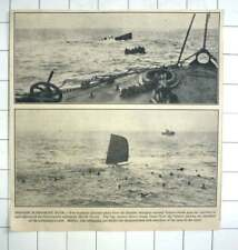 1936 Dramatic Pictures, Sinking Of Submarine B6 Ferrol