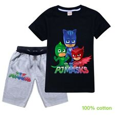 PJ MASKS Boys summer top t-shirt Tshirt pants pjs size 3-8 kids clothing