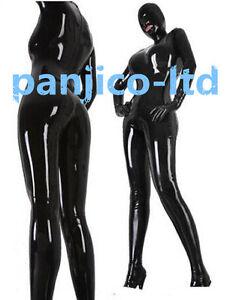 100% Latex Rubber GummiHood Black Ganzanzug Catsuit Handsome Bodysuit Size S-XXL