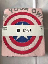 Gap Kids Captain America  PJ Sleep 2 Piece Set Long  Sleeve Girls 8 NWT