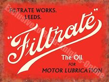 Filtrate Motor Oil Leeds Old Vintage Garage Advertising Large Metal/Tin Sign