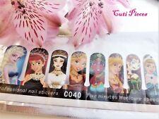 "Nail Art Self Adhesive Full Nail Polish Wraps Sticker ""Princess"" Elsa Cinderella"