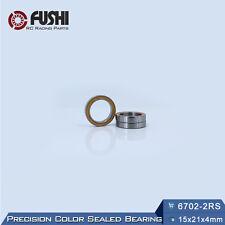 6702RS Bearing 15x21x4 mm ABEC-3 (10PCS) Orange Sealed 6702 RS 2RS Ball Bearings