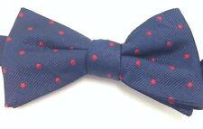$125 TOMMY HILFIGER Mens RED BLUE SUIT POLKA DOT DRESS BOW TIE ADJUSTABLE BOWTIE