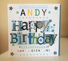 Birthday boy personalised card. Birthday card for a boy man male personalised