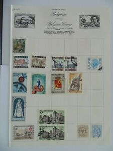 PA 401 - Page Of Mixed Belgium Stamps