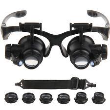 LED Brillenlupe Kopflupe Vergrößerung Augenlupe Lupenbrille 10X 15X 20X 25X