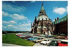 Ottawa Canada Vintage postcard Library of Parliament vintage cars