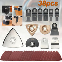 38 x Mix Oscillating Multi Tool Saw Blade Accessories Set For Fein Makita Bosch
